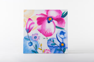 Floral print, flowers, painting, flower power, artwork