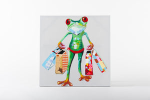 animal wall art, frog painting, animal artwork, paintings, canvas work