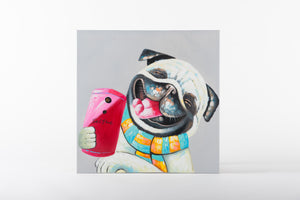 Selfie Time Hand Painted Animal Wall Art on Canvas