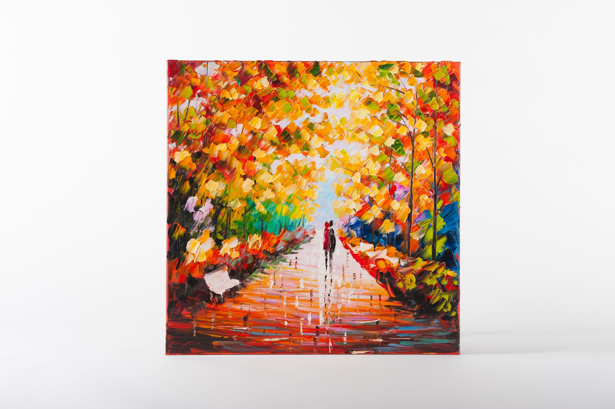 forest trail hand painted wall art on canvas - Fervor + Hue