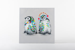 cute penguins, penguin paintings, animal art
