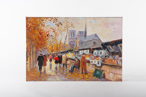 Notre Dame, Paris, canvas artwork, painting, atmosphere