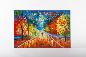 river, avenue, dreamers, lovers walk, artwork, canvas painting