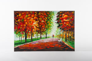 Morning Light in The Park Hand Painted Wall Art on Canvas