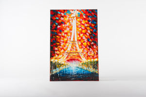 paris, cityscape, romantic painting, canvas artwork