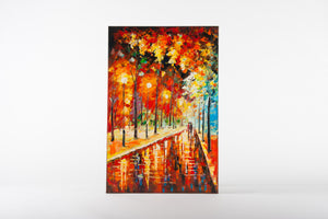 canvas artwork, painting, romantic art, paris, cityscape