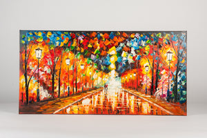City Light Parade Hand Painted Wall Art on Canvas