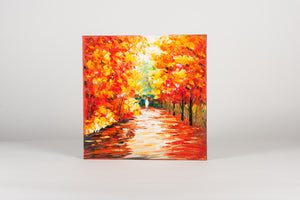 Woodland Walk Hand Painted Wall Art on Canvas