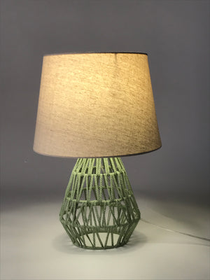 Rope Mesh Classic Table Lamp Green - Fervor + Hue