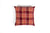 Linen Check Red Multi Cushion - Fervor + Hue