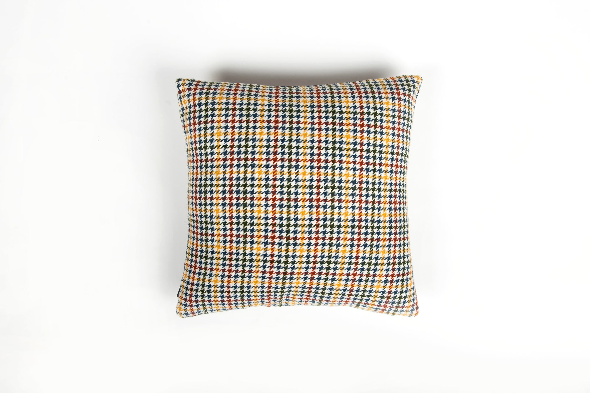 Tweedy Weave Teal Rust Cushion - Fervor + Hue