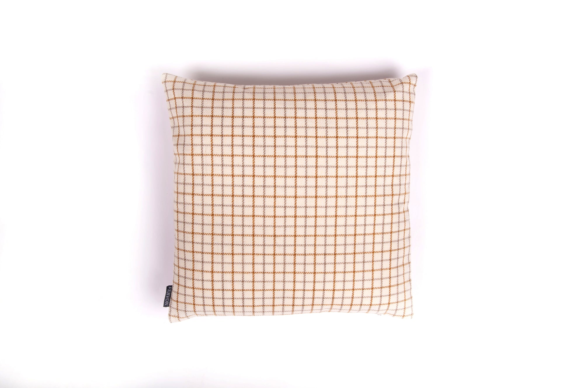 Tweedy Weave Natural Tan Cushion - Fervor + Hue