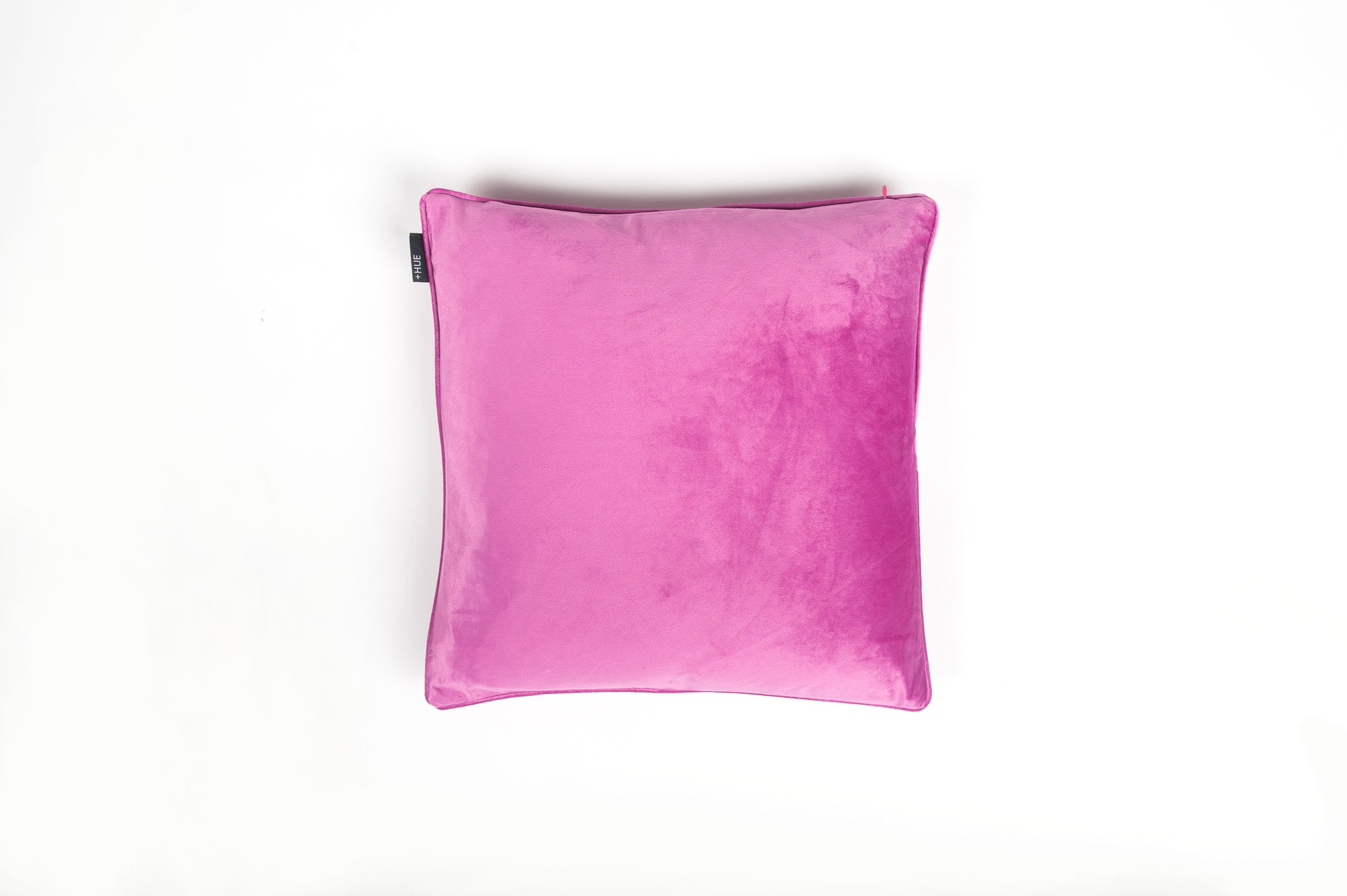 Velvet Fuschia Piped Cushion - Fervor + Hue