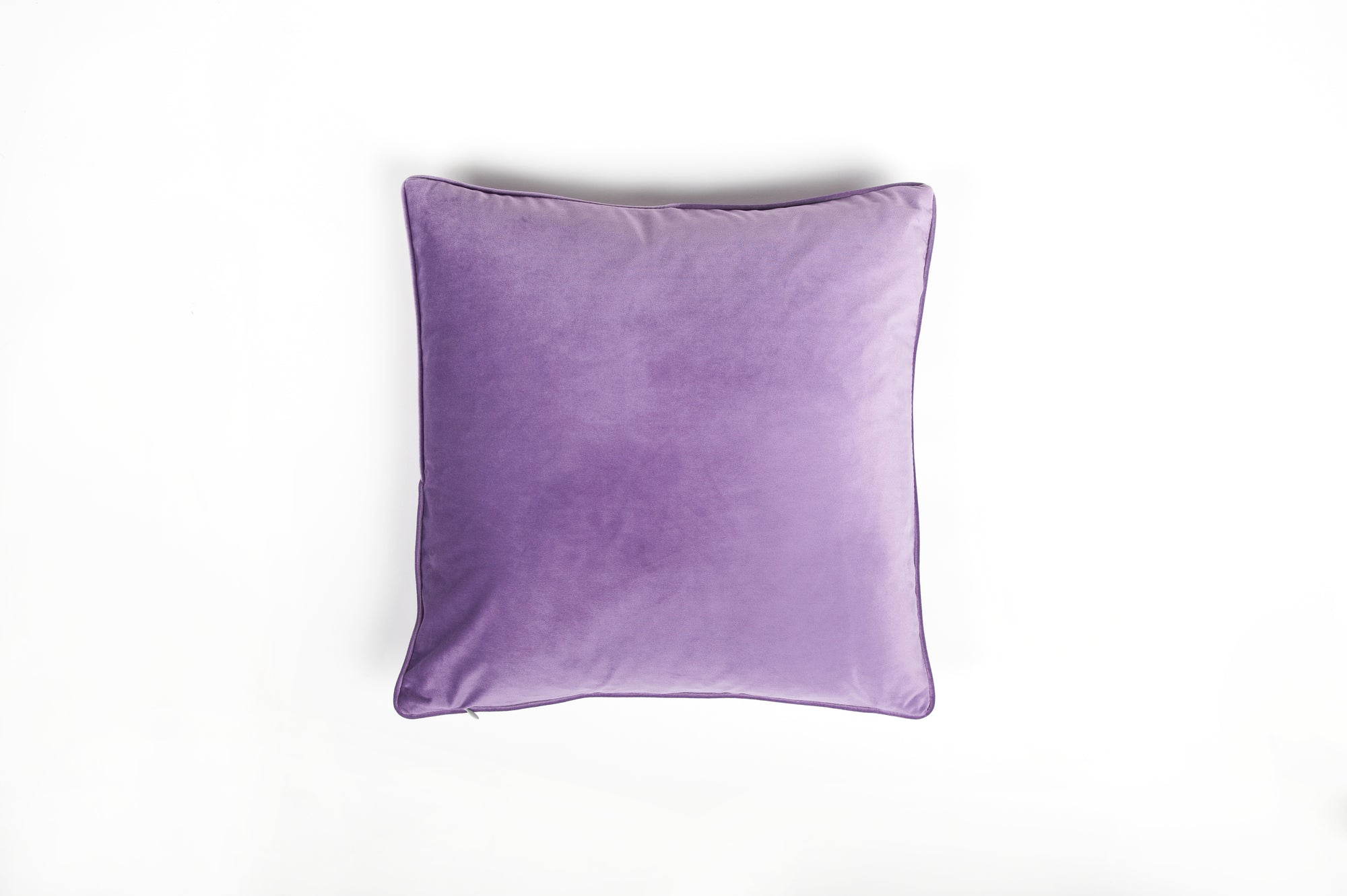 Velvet Lavender Piped Cushion - Fervor + Hue