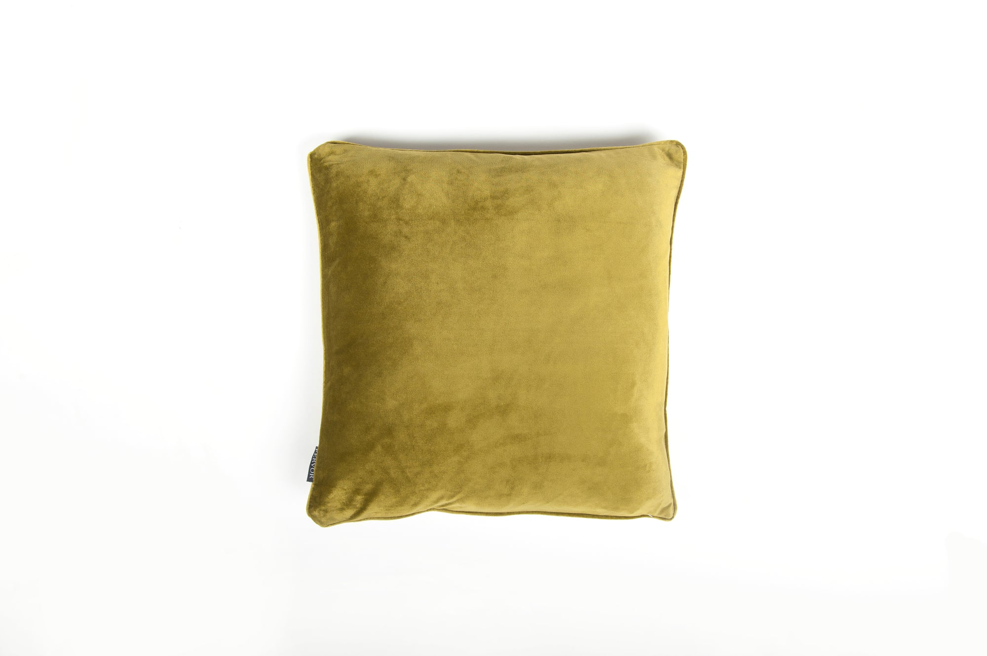 Velvet Lime Green Piped Cushion - Fervor + Hue