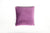 Velvet Soft Aubergine Piped Cushion - Fervor + Hue