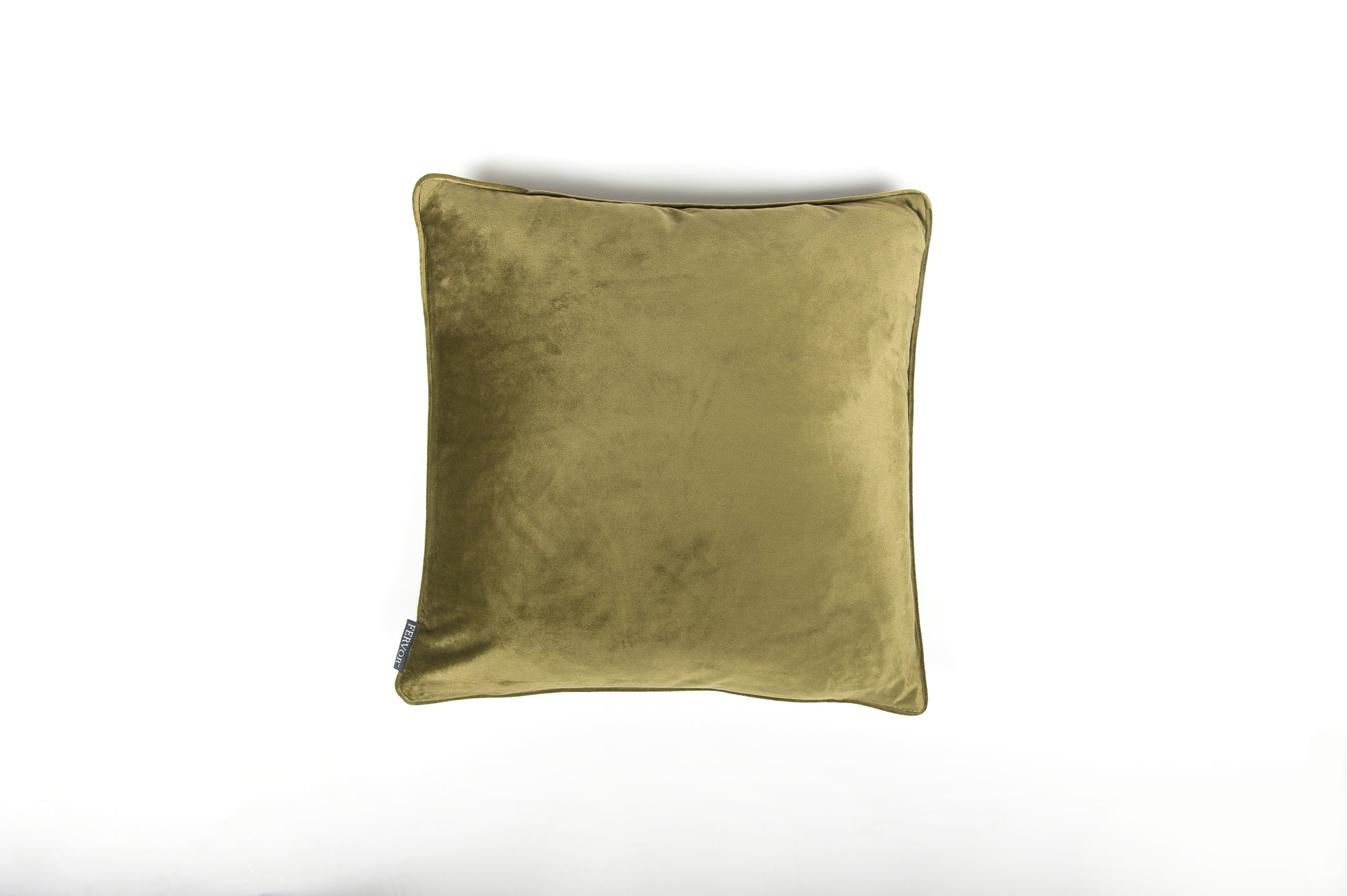 Velvet Sage Green Piped Cushion