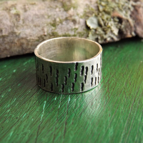 Textured Mens Ring