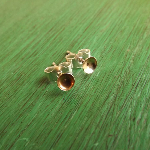 Gold Cup Stud Earring