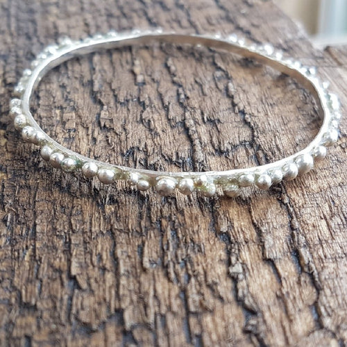 Silver Bobble Bangle