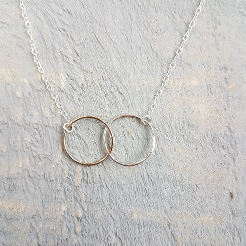 Gold & Silver Infinity Necklace