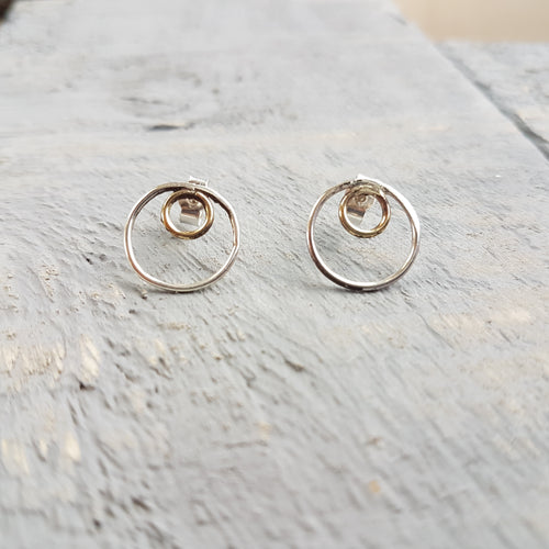 Gold & Silver Infinity Earrings
