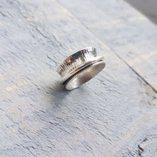 Hand Stamped Spinner Ring