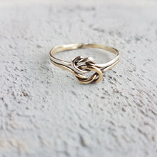 Gold & Silver Love Knot Ring