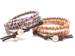 Wrap bracelets from Weave Tassy Co are popular purchases