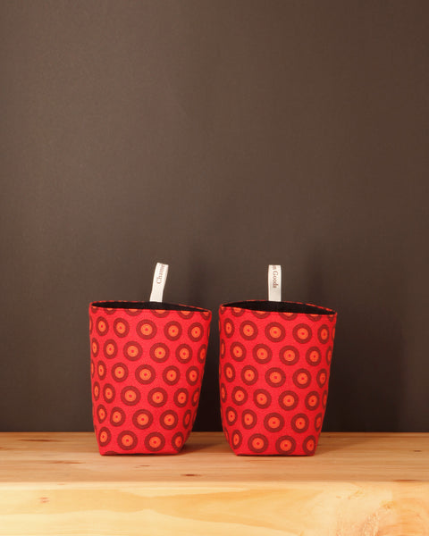 Red Fabric Storage Basket - Chameleon Goods