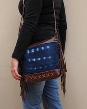 Brown Leather Fringe bag by Chameleon Goods