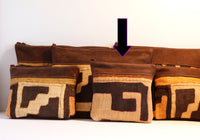 A selection of clutches and pouches from our leather and Kuba cloth range. Handcrafted in Africa by Chameleon Goods.