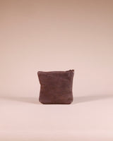 Kinshasa Mini Brown Leather Zipper Pouch