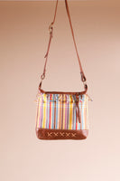 Genuine Brown Leather Shoulder Bag; handmade in Africa by Chameleon Goods