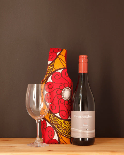 Wine Tote - Waxed Cotton Print - Chameleon Goods