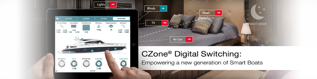 CZone Digital switching, empowering a new generation of smart boats, smarter boats for smart people