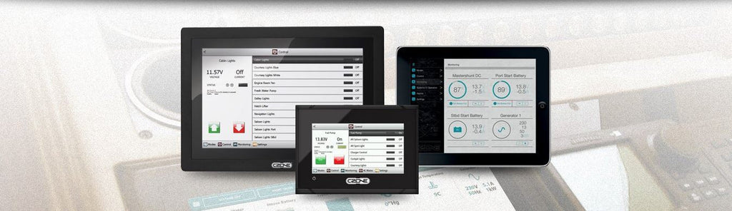 Czone - digital switching by mastervolt, making your electrical system more simple and manageable.