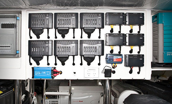 Czone online | less complicated wiring. Example of czone system at play. Tidy wiring. Easy fuse set up. Buy today