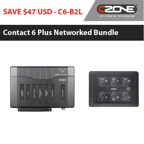 CZone Contact 6 Plus Bundles | Networked Systems 6 Way Keypads