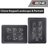 CZONE's Waterproof Keypad Landscape & portrait 80-911-0162-00 & 80-911-0163-00 | Buy for $220