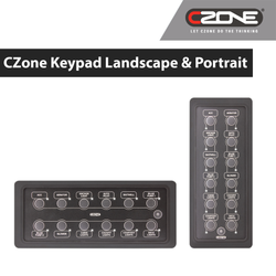 CZONE 12 WAY WATERPROOF KEYPAD 80-911-0164-00 | 80-911-0165-00