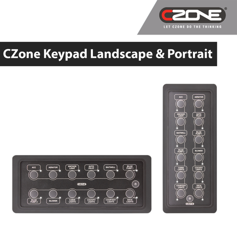 CZone - 12 Way Waterproof Keypads - 80-911-0165-00