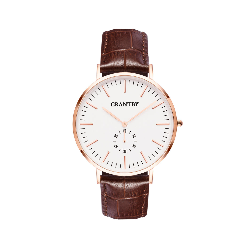 Rose Gold Character 40 Brown Croc