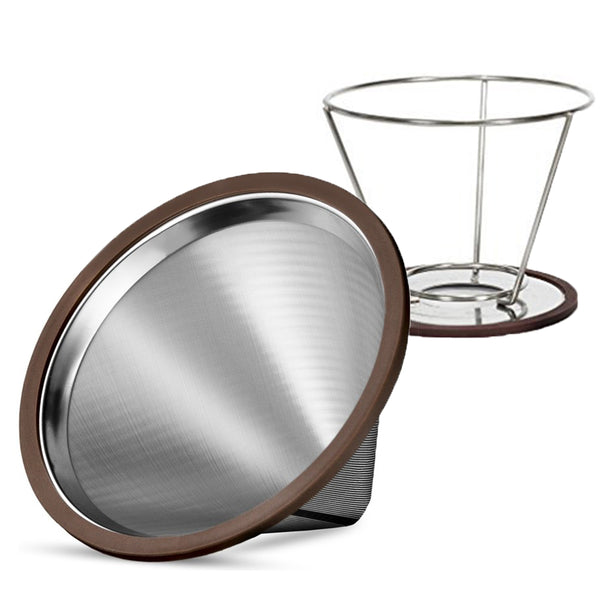 Pour Over Coffee Filter Set - Stainless Steel