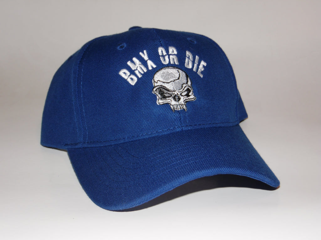 BMX OR DIE Velcro Adjustable Round Bill Hat