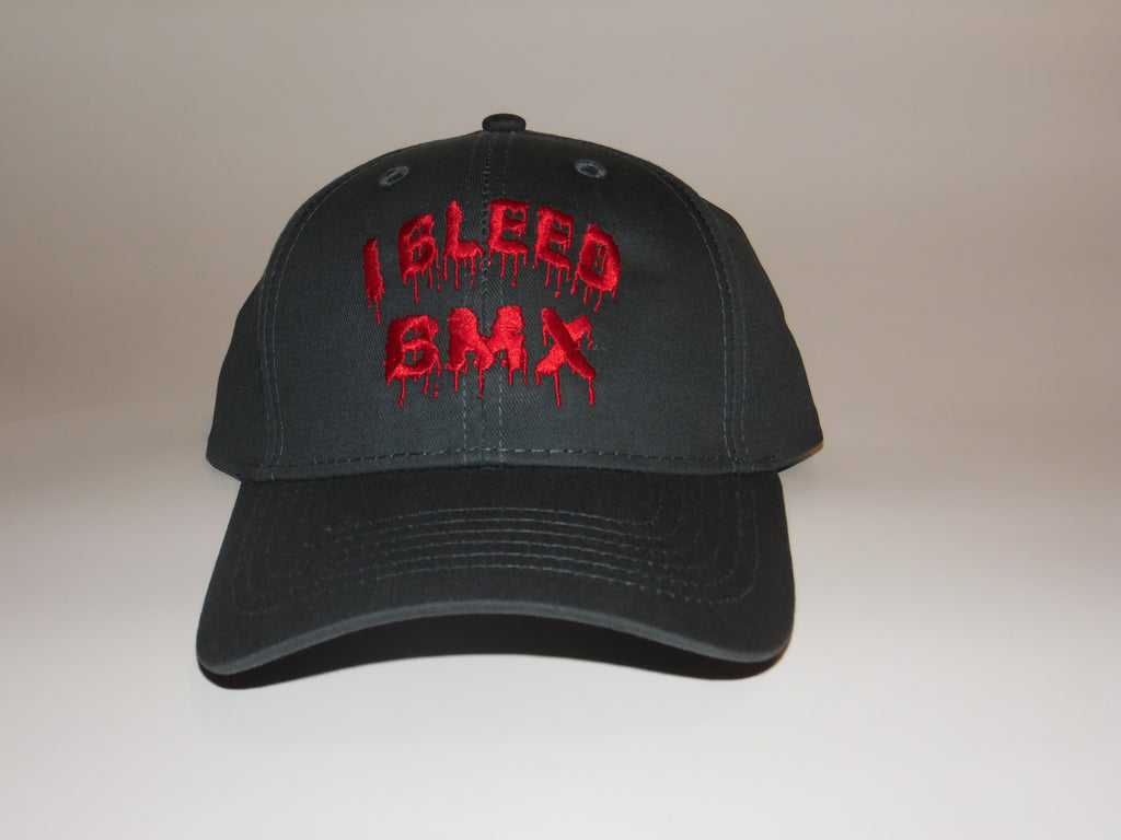 I BLEED BMX Velcro Adjustable Round Bill Hat Youth