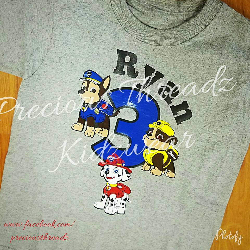 Paw Patrol Birthday Shirt Boy Precious Threadz Boutique
