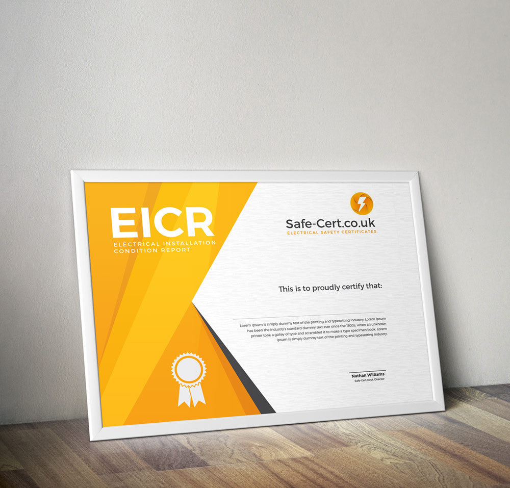 Electrical Safety Certificate (EICR) – Safe-Cert.co.uk