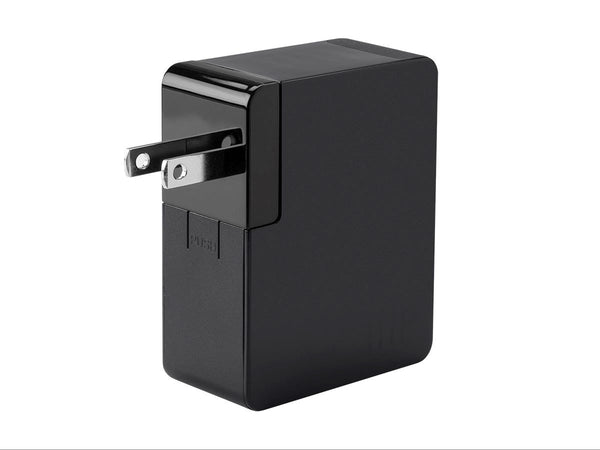 Monoprice Obsidian Series 2-Port 4.8A International USB Charger with US/EU/UK/AU Plugs