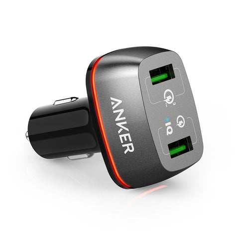 Anker PowerDrive+ 2 / 42W Dual USB Car Charger Car Charger with Quick Charge 3.0